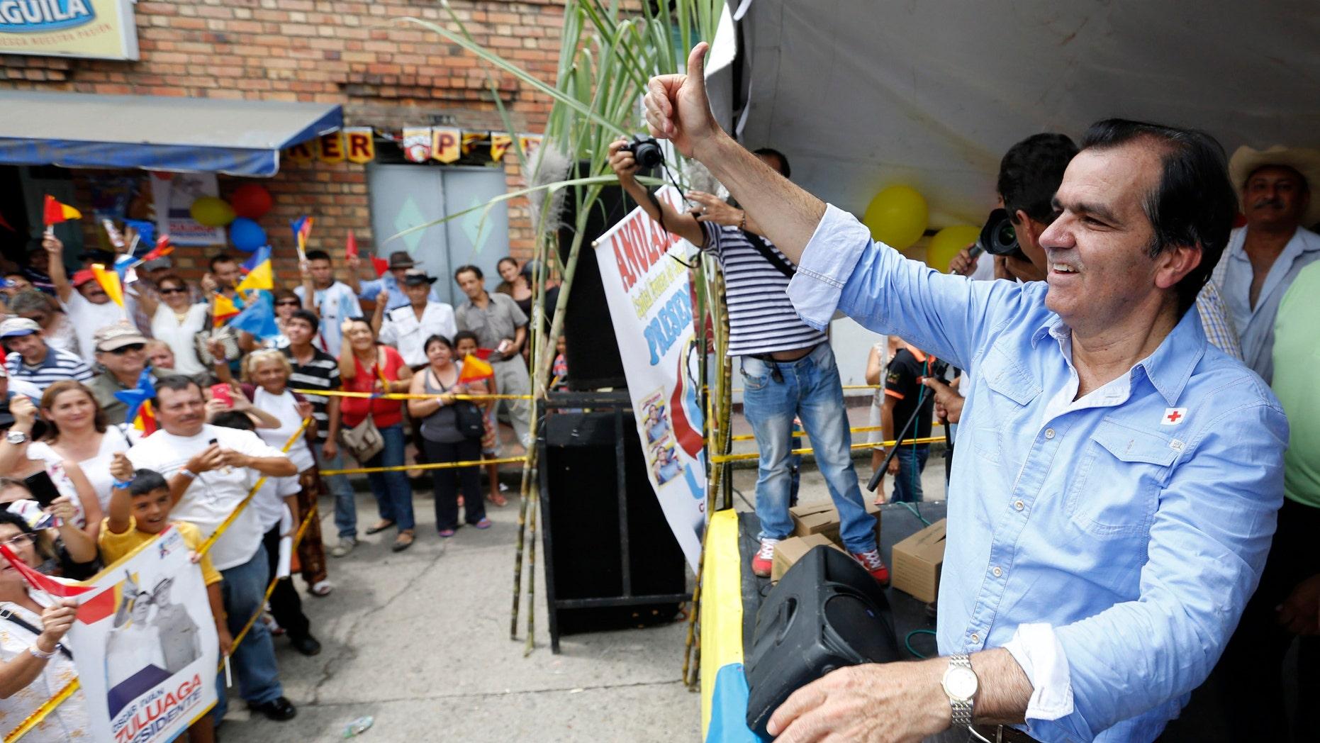 Opposition candidate Oscar Iván Zuluaga.