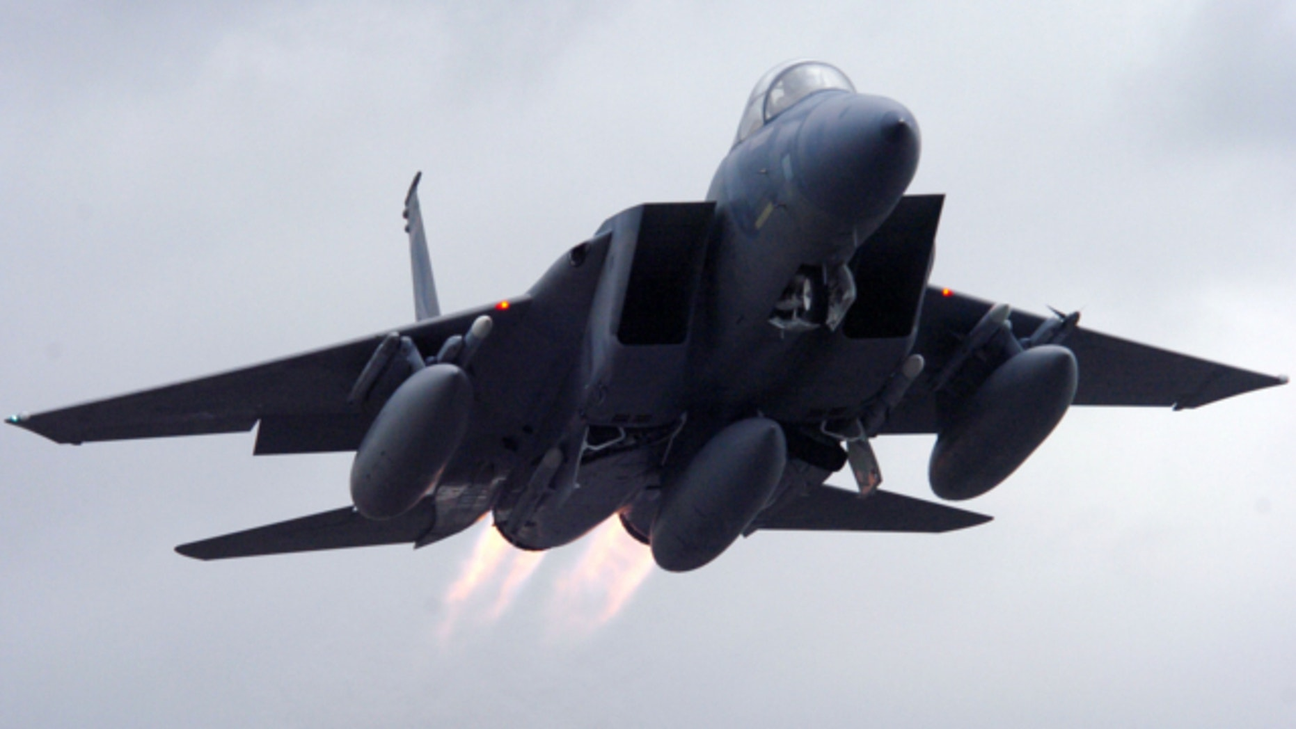 June 14, 2006: An F-15 Eagle takes off from Portland Air National Guard Base in Oregon.