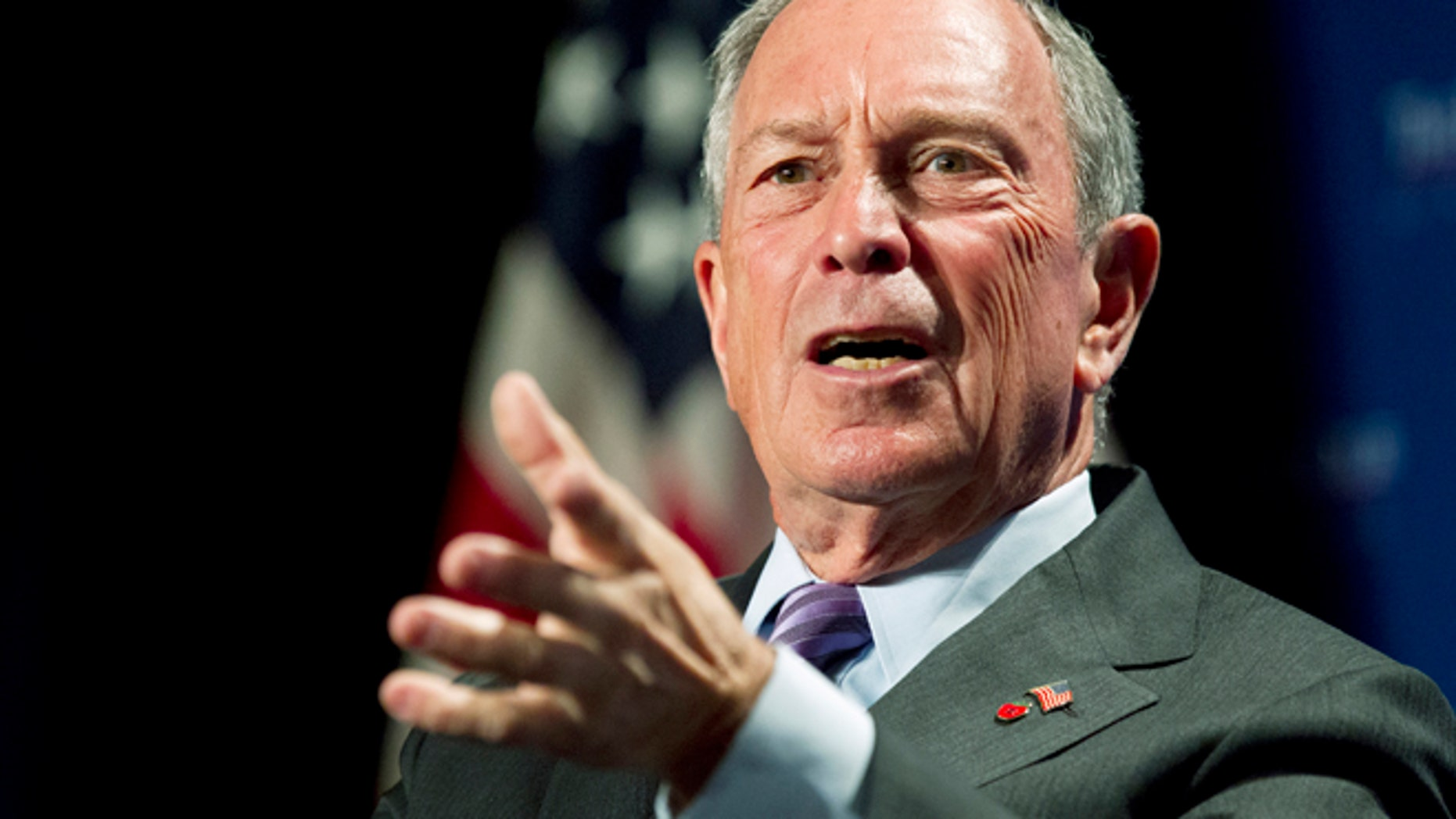 New York City Mayor Michael Bloomberg speaks to the Economic Club of Washington, Wednesday, Sept. 12, 2012, on the four year anniversary of the collapse of the financial industry, and the future of the economic recovery.  (AP Photo/Manuel Balce Ceneta)
