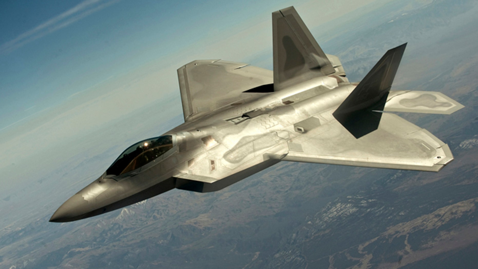 FILE: A F-22 Raptors intercepted two small planes during meetings at the United Nations