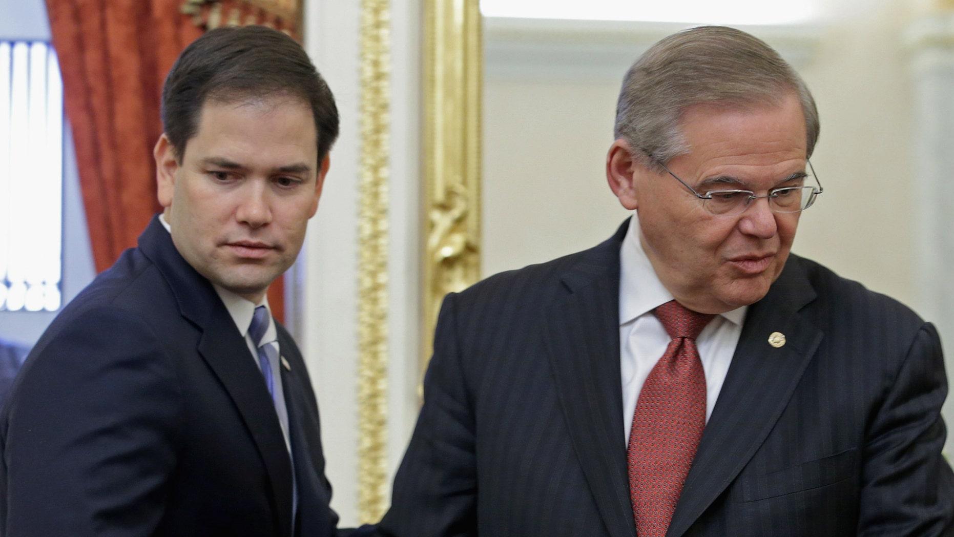 U.S. Sen. Marco Rubio (R-FL) and Senate Foreign Relations Committee Chairman Robert Menendez (D-NJ).
