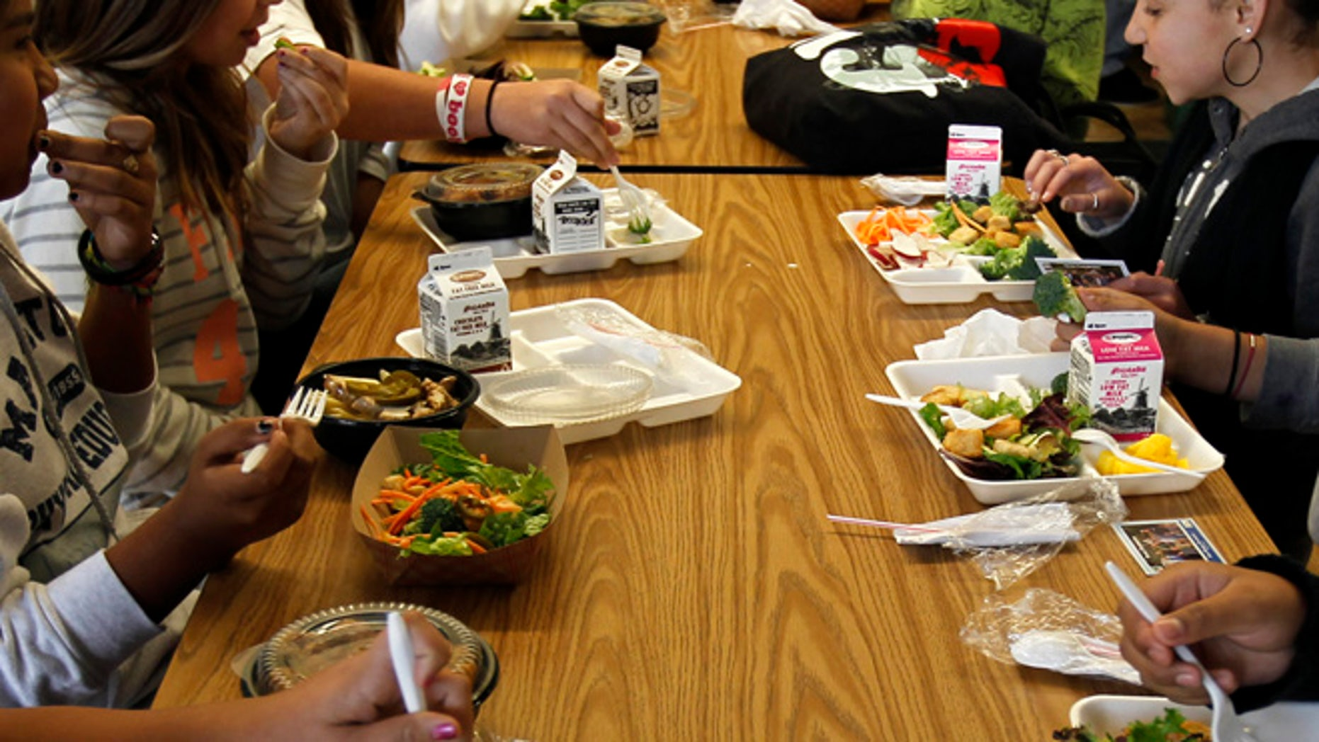 FILE: 2011: Students eating lunch at a Southern California school.