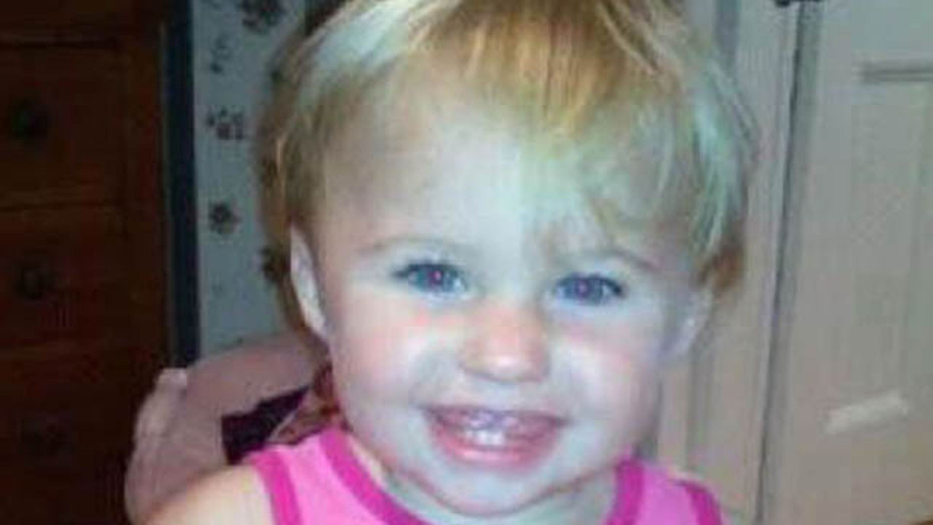 This undated photo shows missing toddler Ayla Reynolds.