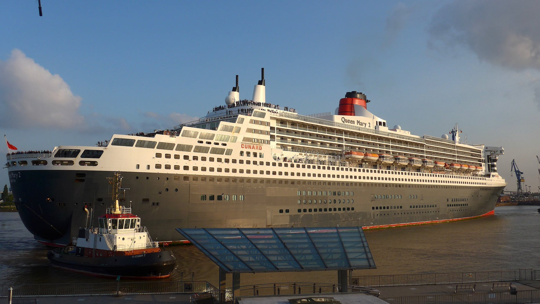 The outside view of the Remastered Queen Mary 2