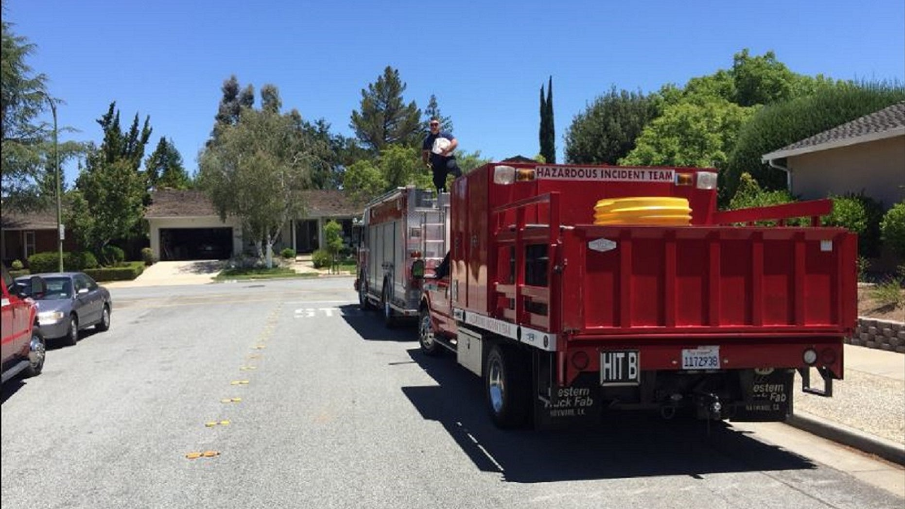 A dangerous mixture of pool chemicals hospitalized at least 35 people in northern California on Thursday.