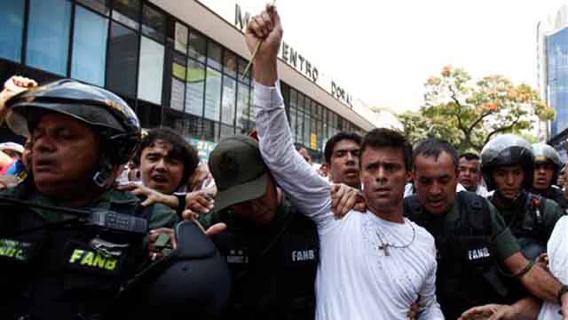 Opposition leader Leopoldo Lopez, in a Feb. 18, 2014 file photo.