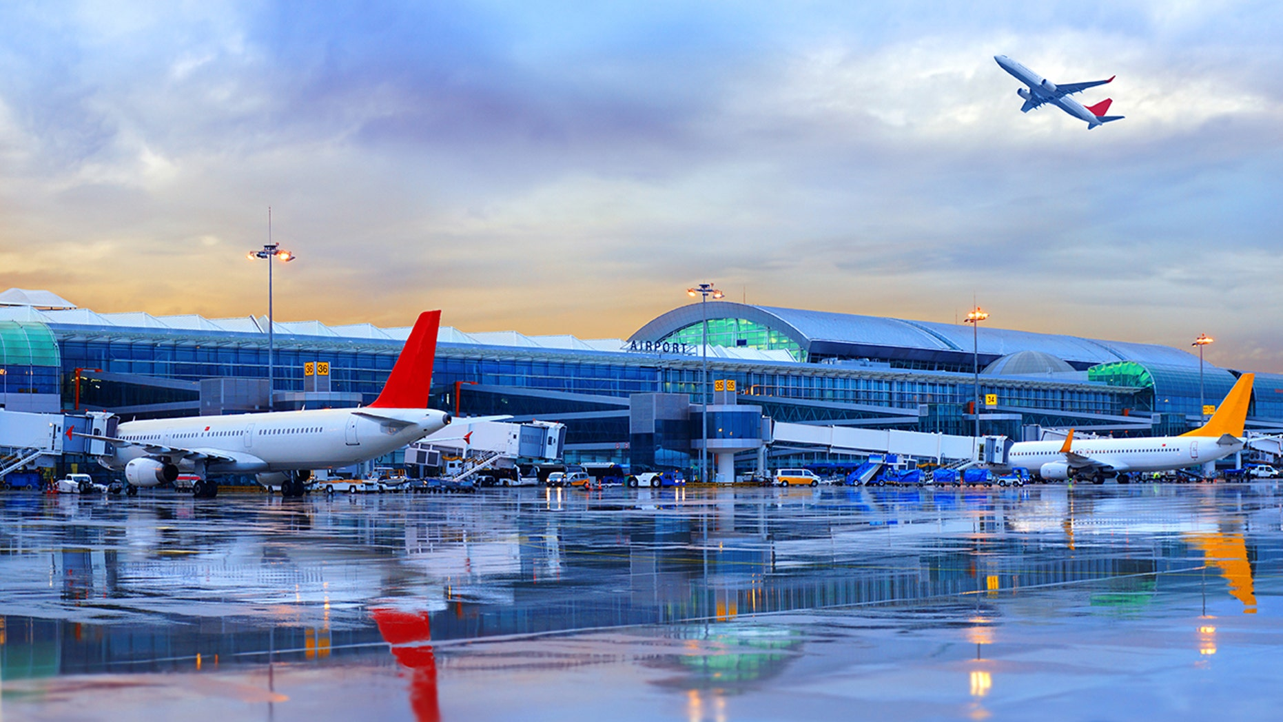 Airport in Ä°zmir, Turkey ( Adnan Menderes Airport )