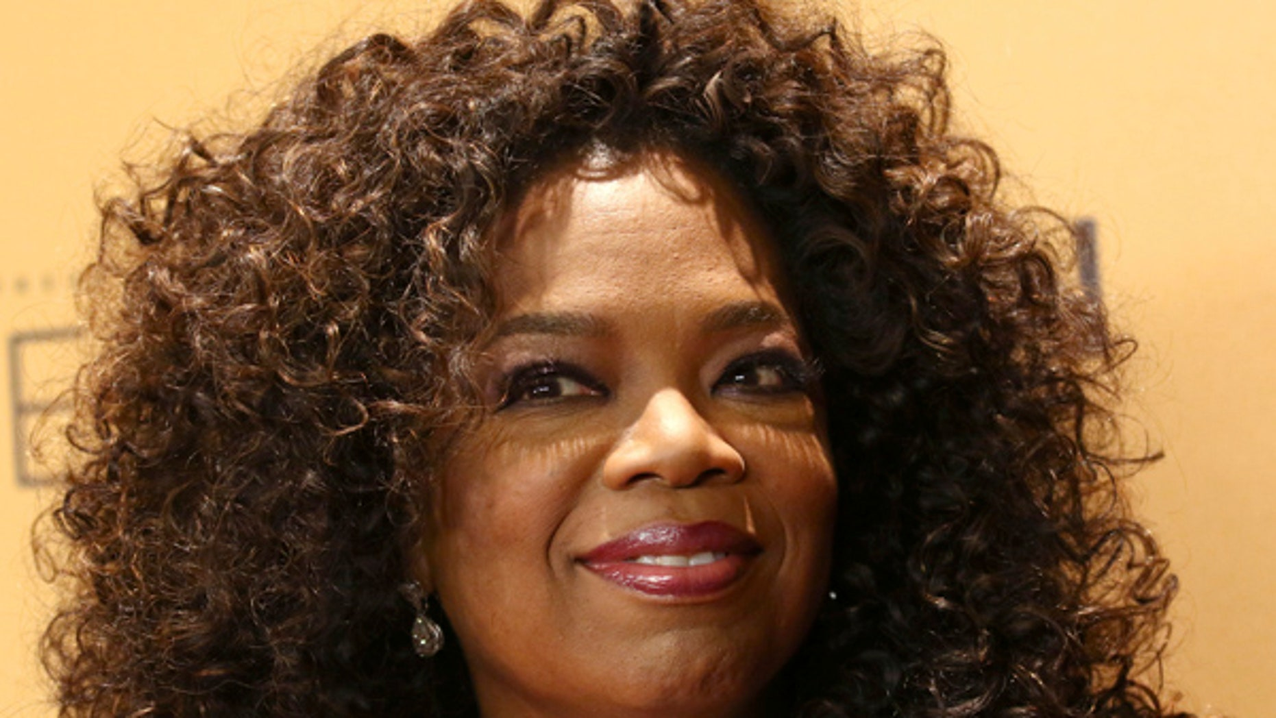 "Oprah Winfrey is seen at the premiere of OWN's documentary series ""Belief"" at the TimesCenter in New York."