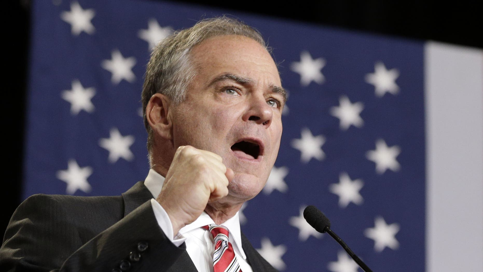 Copyright 2016 The Associated Press. All rights reserved. This material may not be published, broadcast, rewritten or redistributed without permission. Mandatory Credit: Photo by Chuck Burton/AP/REX/Shutterstock (5892866e) Tim Kaine Democratic vice presidential candidate, Sen. Tim Kaine, D-Va. speaks during a campaign rally in Wilmington, N.C Tim Kaine vice presidential campaign, Wilmington, North Carolina, USA - 06 Sep 2016