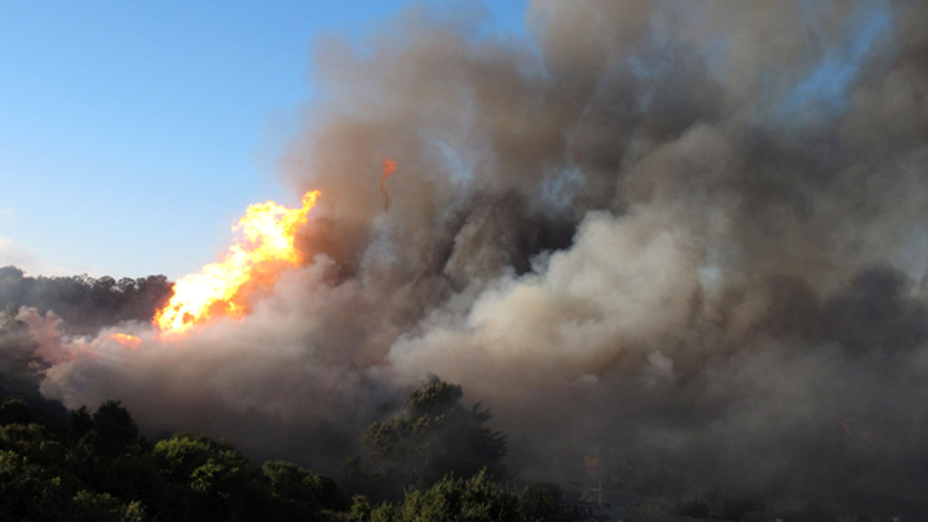 Sept. 9:  Several homes were destroyed as a massive fire roared through a mostly residential neighborhood in the south San Francisco suburb of San Bruno.