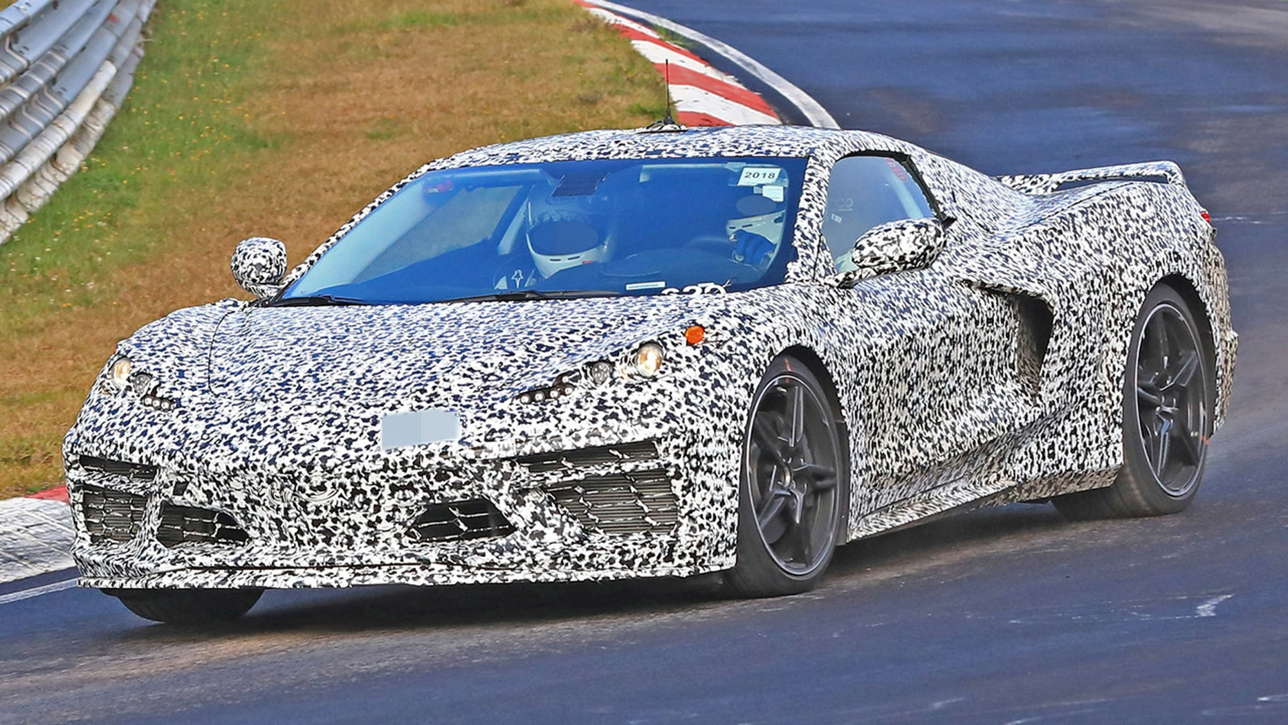 Secret mid-engine Chevrolet supercar spotted in Germany ...