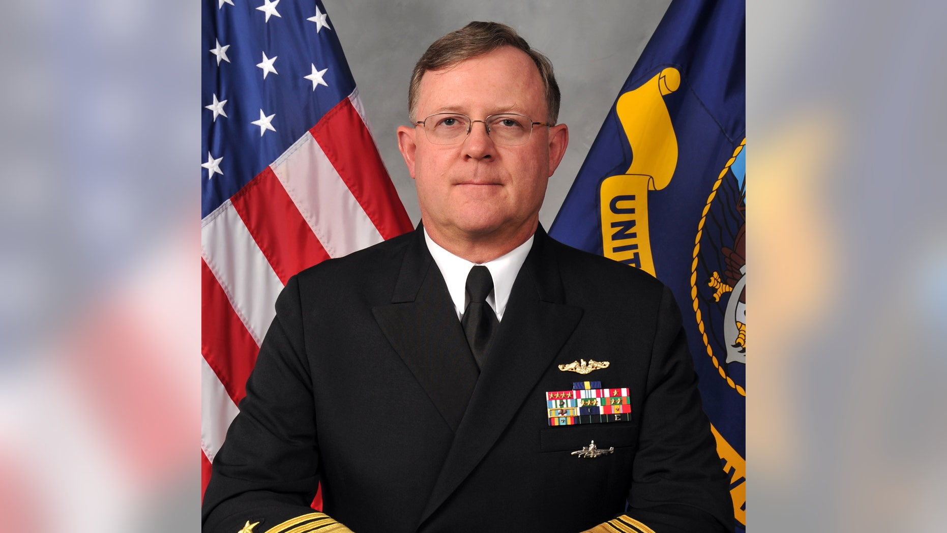 This Image Provided By The US Navy Shows Vice Adm Tim Giardina In A