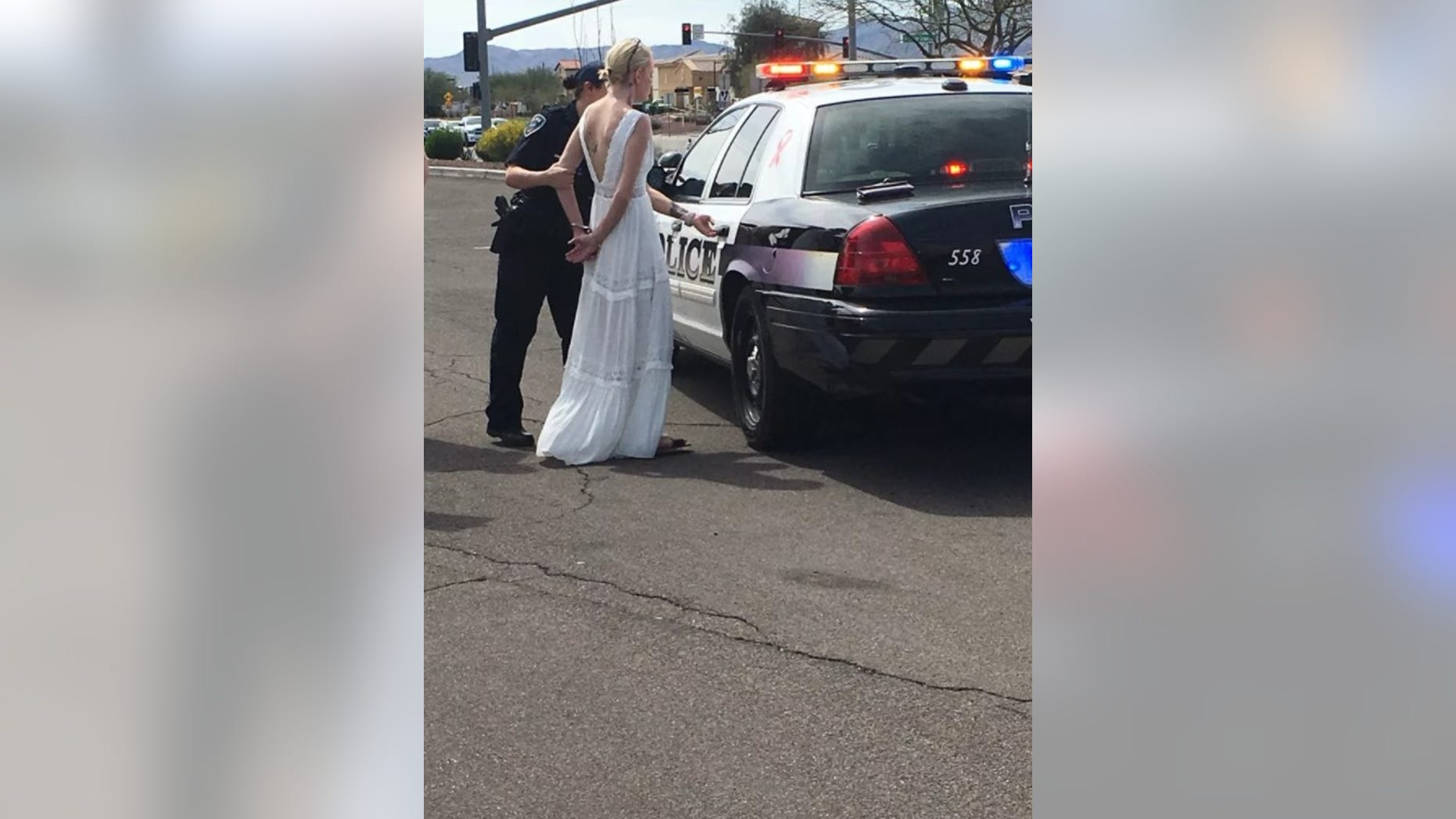 Amber Young, 32, was arrested and charged with DUI on Monday after allegedly driving drunk on the way to her own wedding.