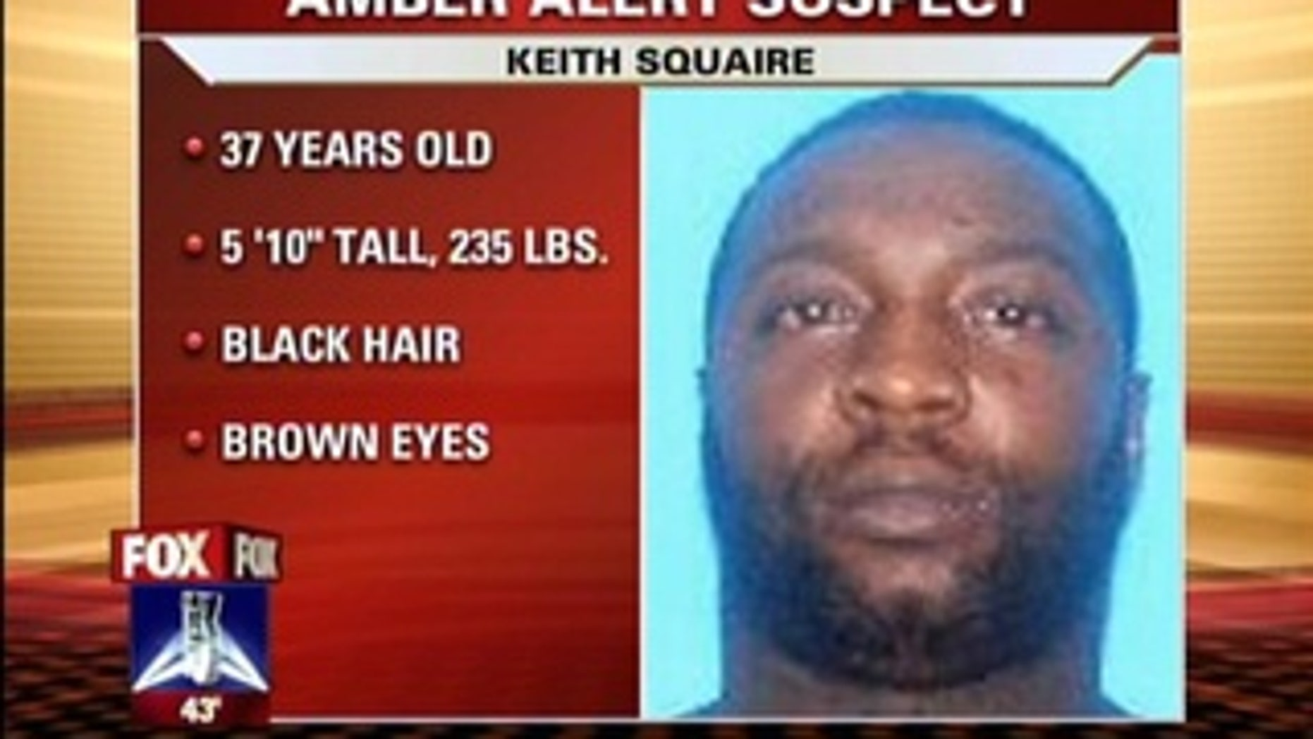 A Pensacola, Florida Amber Alert has been issued for 17-month-old Keith Squaire Jr., who is believed to be with his mother's ex-boyfriend.