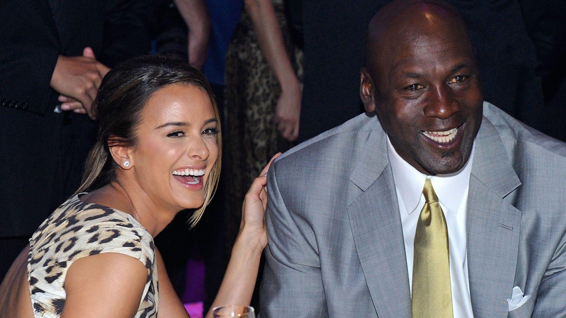 Michael Jordan and fiancee Yvette Prieto.
