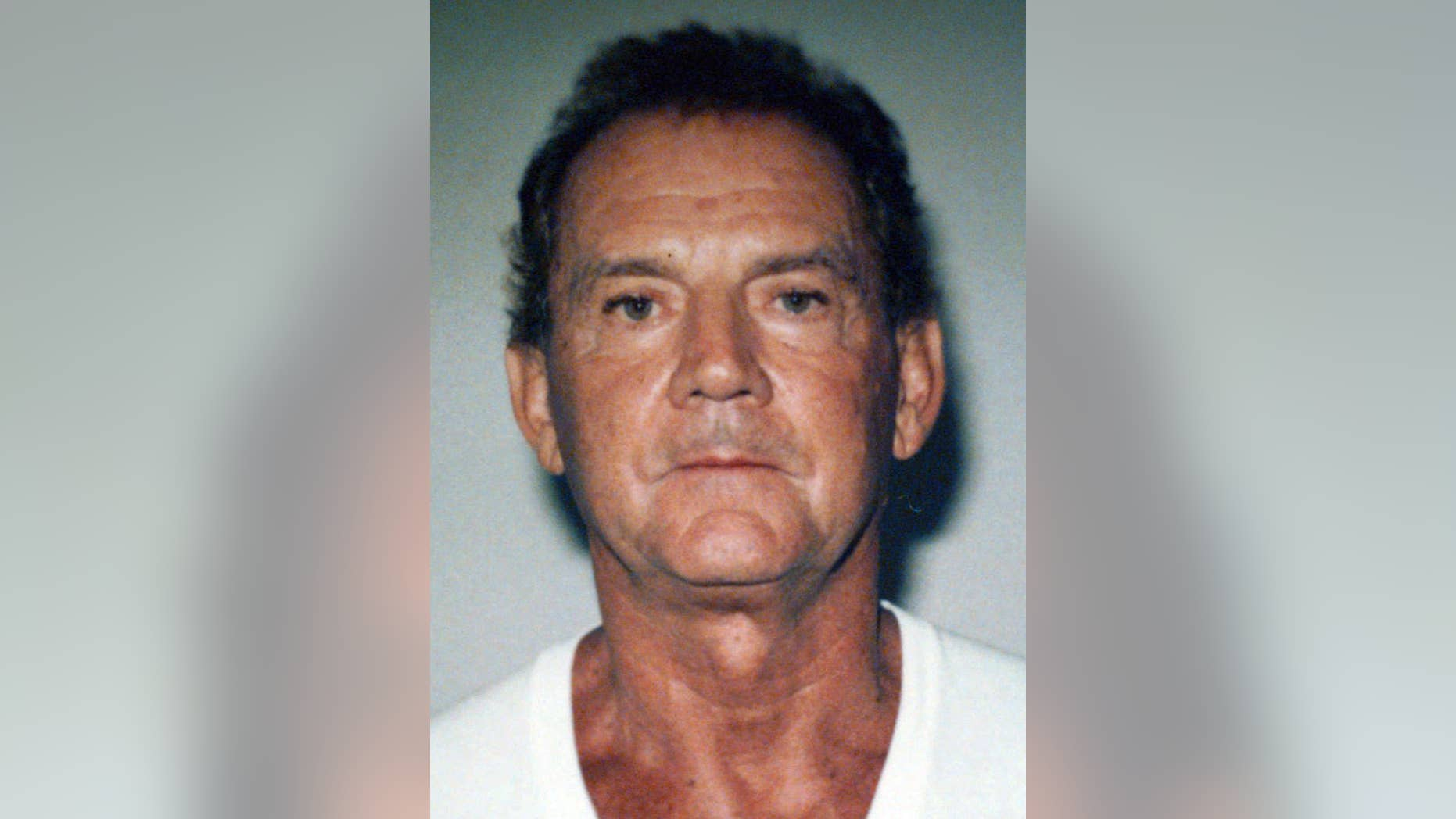 "FILE - This 1995 file photo taken in West Palm Beach, Fla., and released by the FBI shows Francis P. ""Cadillac Frank"" Salemme. Federal prosecutors said Wednesday, Aug. 10, 2016, that the former Mafia boss has been arrested on charges related to murder of a witness. He is expected to make an initial appearance in federal court in Boston Wednesday afternoon.(Federal Bureau of Investigation via AP, File)"