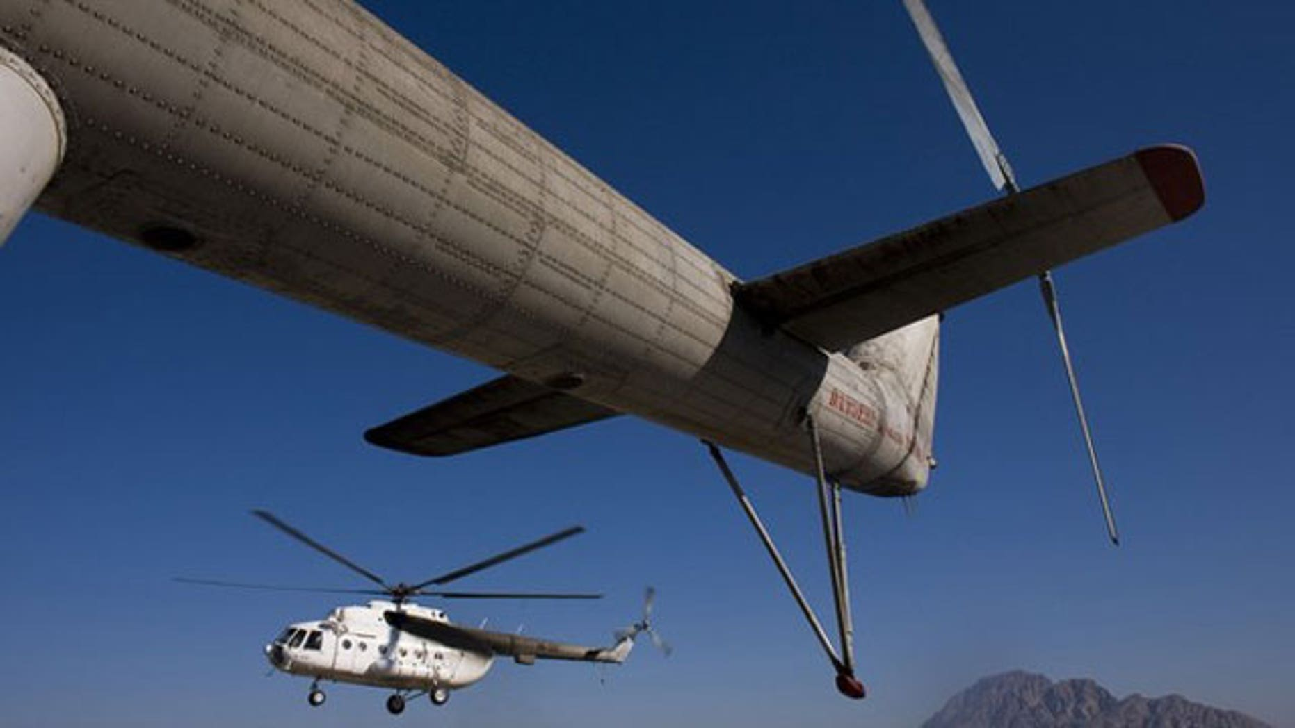 File: Mi-17 helicopter lands on base Delaram in Nimroz province, southern Afghanistan.