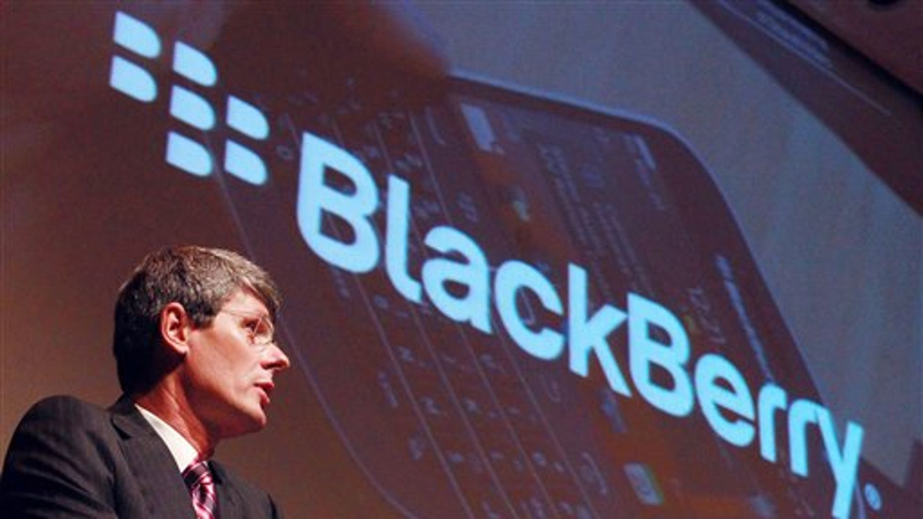 July 10, 2012: Thorsten Heins, President and CEO of Research in Motion (RIM), speaks at the company's Annual General Meeting, less than two weeks after announcing disappointing financial results, deep job cuts and the latest delay in its BlackBerry 10 software,  in Waterloo, Ontario.