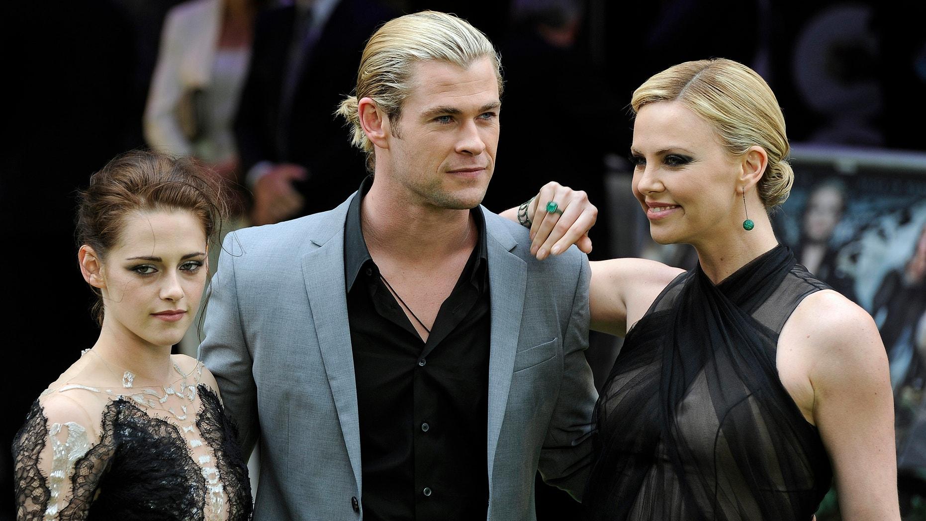 'Snow White and the Huntsman' stars Kristen Stewart, Chris Hemsworth and Charlize Theron.
