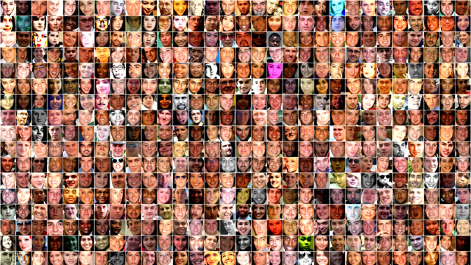 A composite image shows some of the billions of profiles on Facebook.