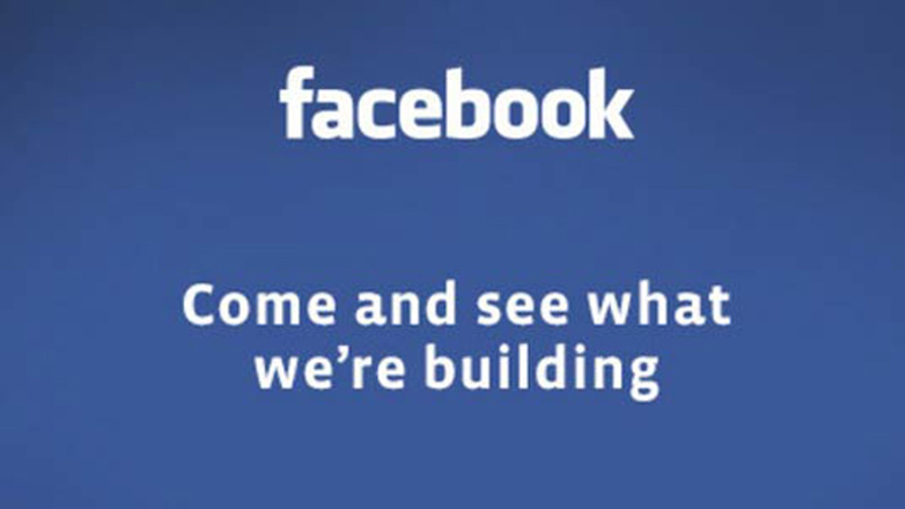 An invitation sent out by Facebook to a Tuesday event offers no explanation for what the company will show off.