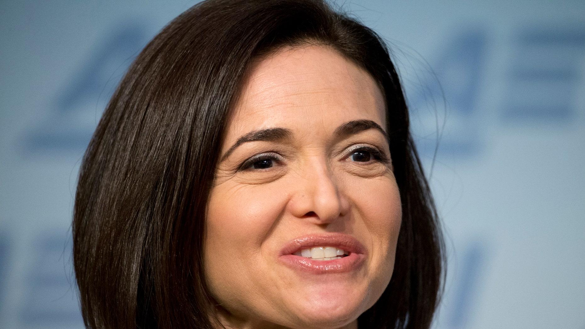 Facebook COO Sheryl Sandberg speaks at American Enterprise Institute in June 2016.