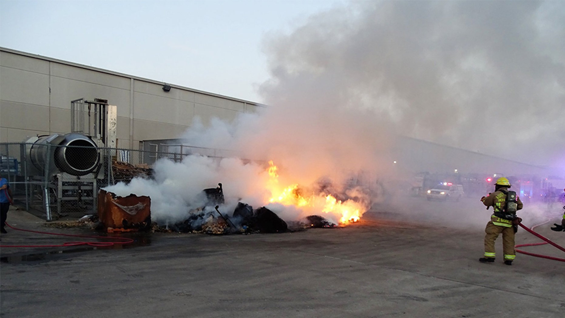 """The Austin Fire Department said they responded to a Texas factory """"not once, but twice"""" over the course of three days after boxes of tortilla chips triggered the blazes."""