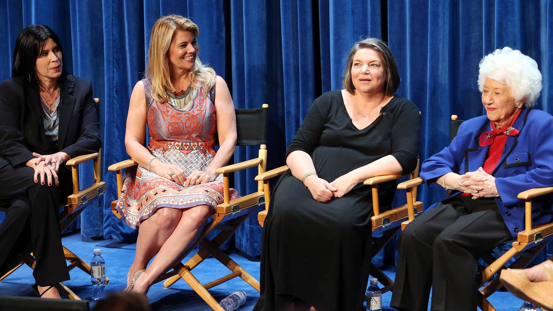 """Nancy McKeon, Lisa Whelchel, Mindy Cohn, and Charlotte Rae at """"The Facts of Life"""" reunion at the Paley Center"""