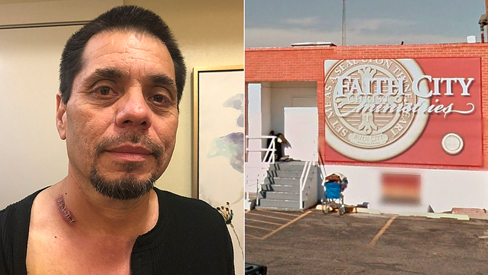 Tony Garces, who disarmed a gunman at the Faith City Mission, was shot after police arrived.