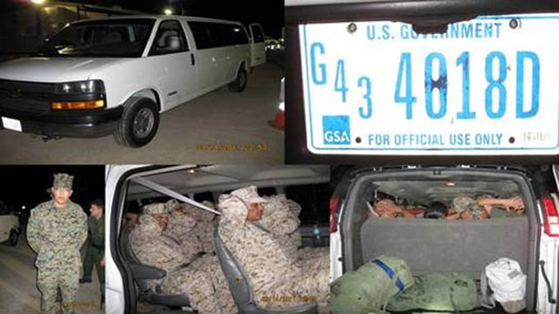 Clad in U.S. Marine uniforms, the illegal immigrants were apprehended at the Campo Border Patrol Westbound I-8 checkpoint at 11 p.m. on March 14 near Pine Valley, Calif., according to a March 15 report by California's El Centro Border Intelligence Center.