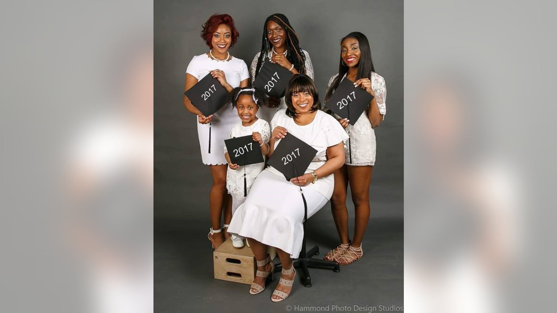 LaWanda Flennoy, received her associate degree from South Suburban College in South Holland. Her two oldest daughters, Paris and Amari, graduated from college this month, her youngest, Jade, finished high school and will graduate. Granddaughter Brooklyn, Paris's daughter, will be graduating from kindergarten.