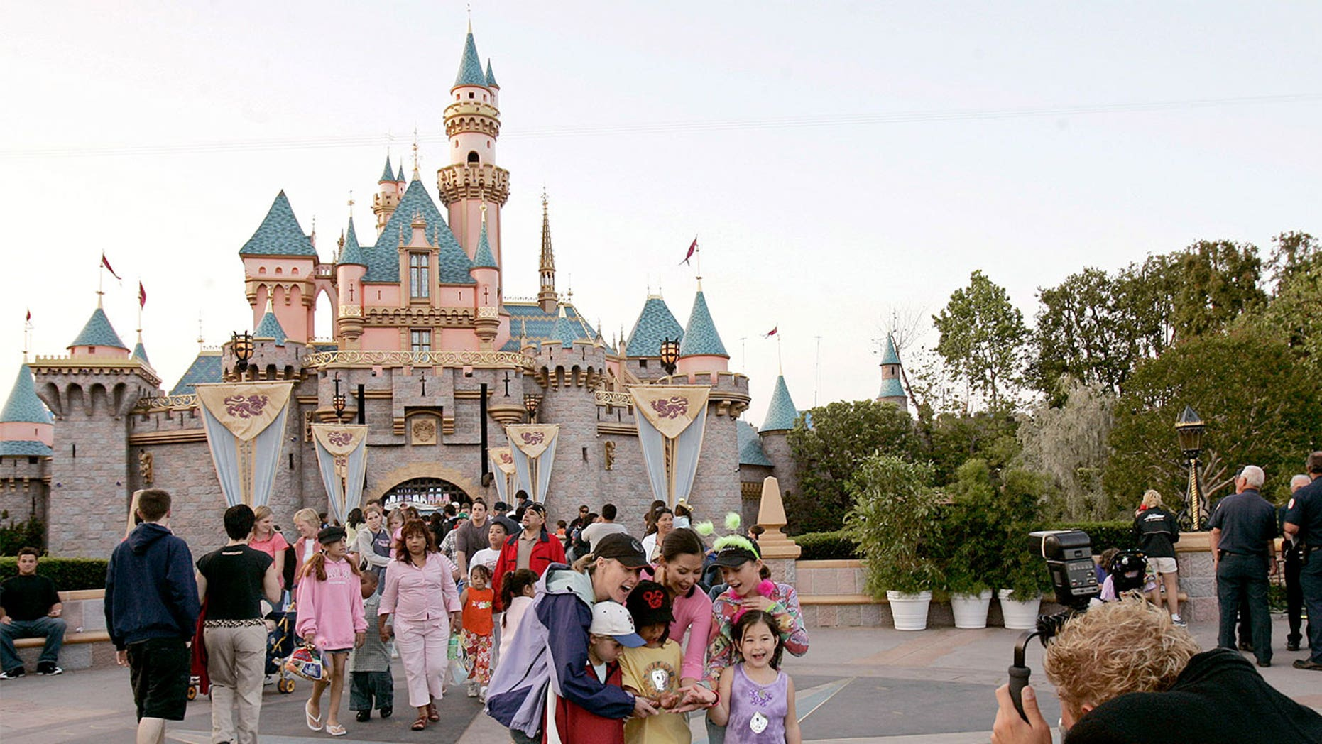 Disneyland park-goers got pooped on by an overhead flock of geese.