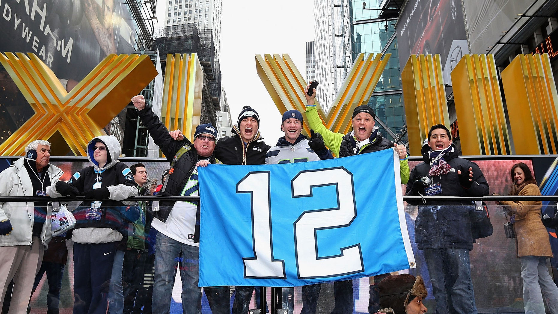 Seattle Seahawks on January 31, 2014 in New York City.