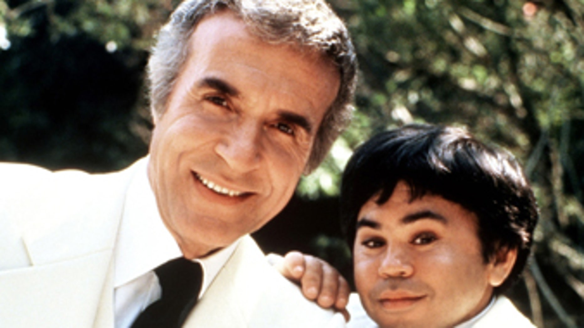 """Ricardo Montalban and Herve Villechaize as Mr. Roarke and Tattoo (l-r) from tv series """"Fantasy Island."""""""