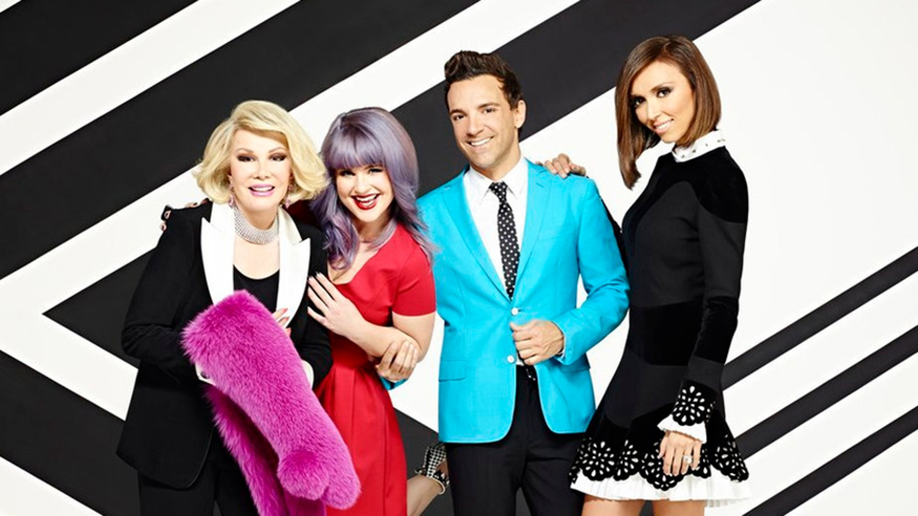 Joan Rivers, Kelly Osbourne, George Kotsiopoulos, Giuliana Rancic  (Photo by: Brian Bowen Smith/E!)
