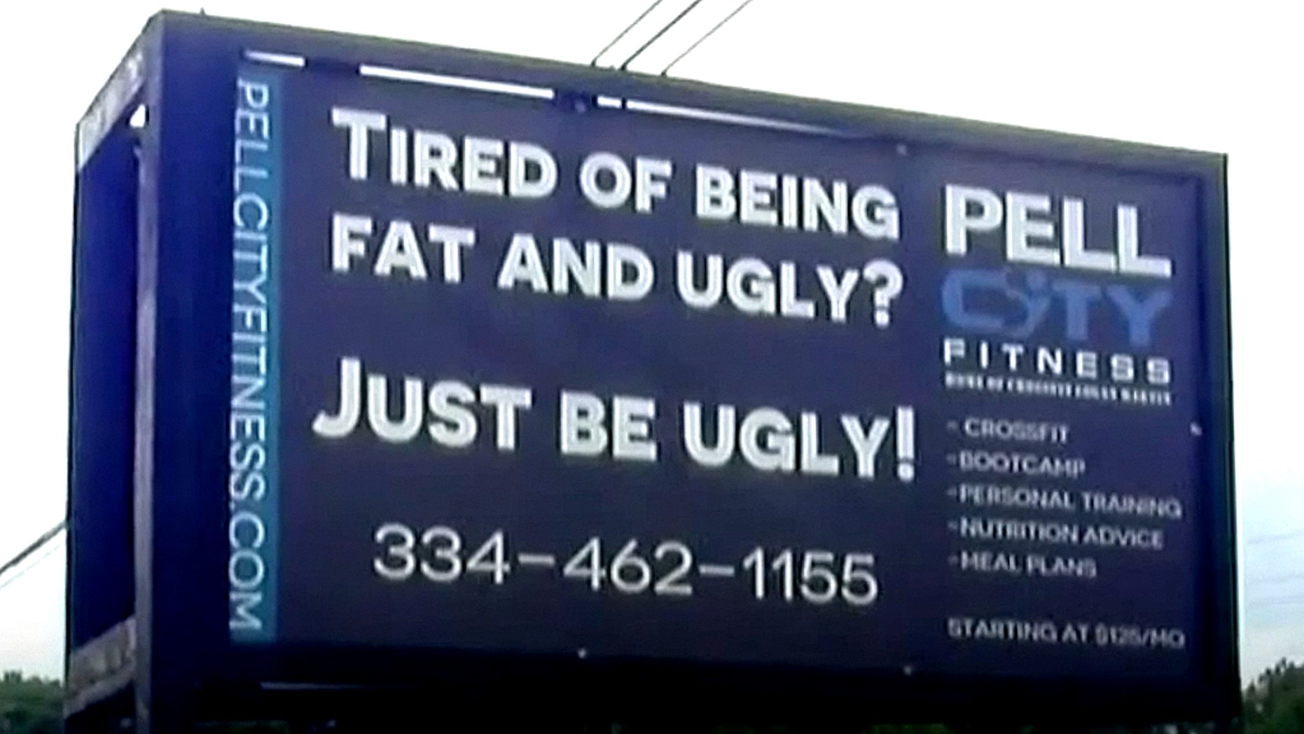 A gym owner's sign has caused some controversy in a small Alabama city.