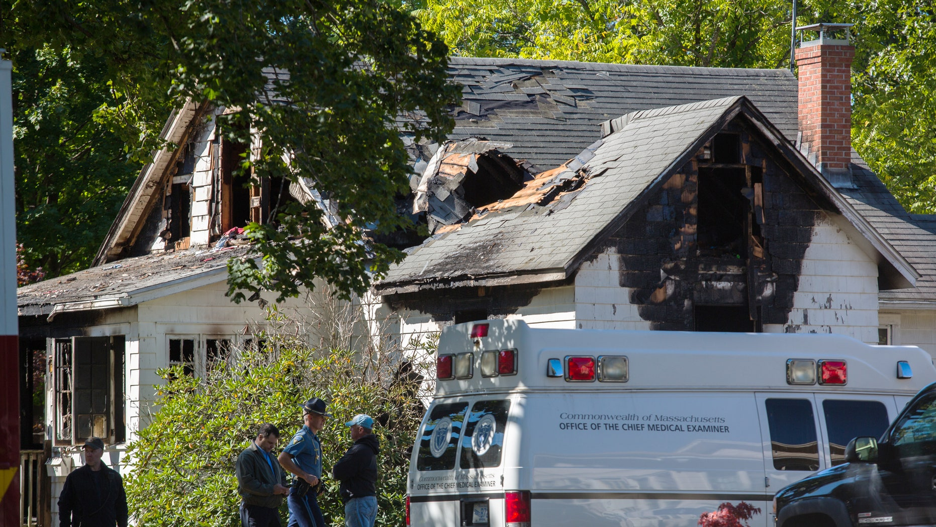 Emergency personnel respond to a house fire on Sept. 25.