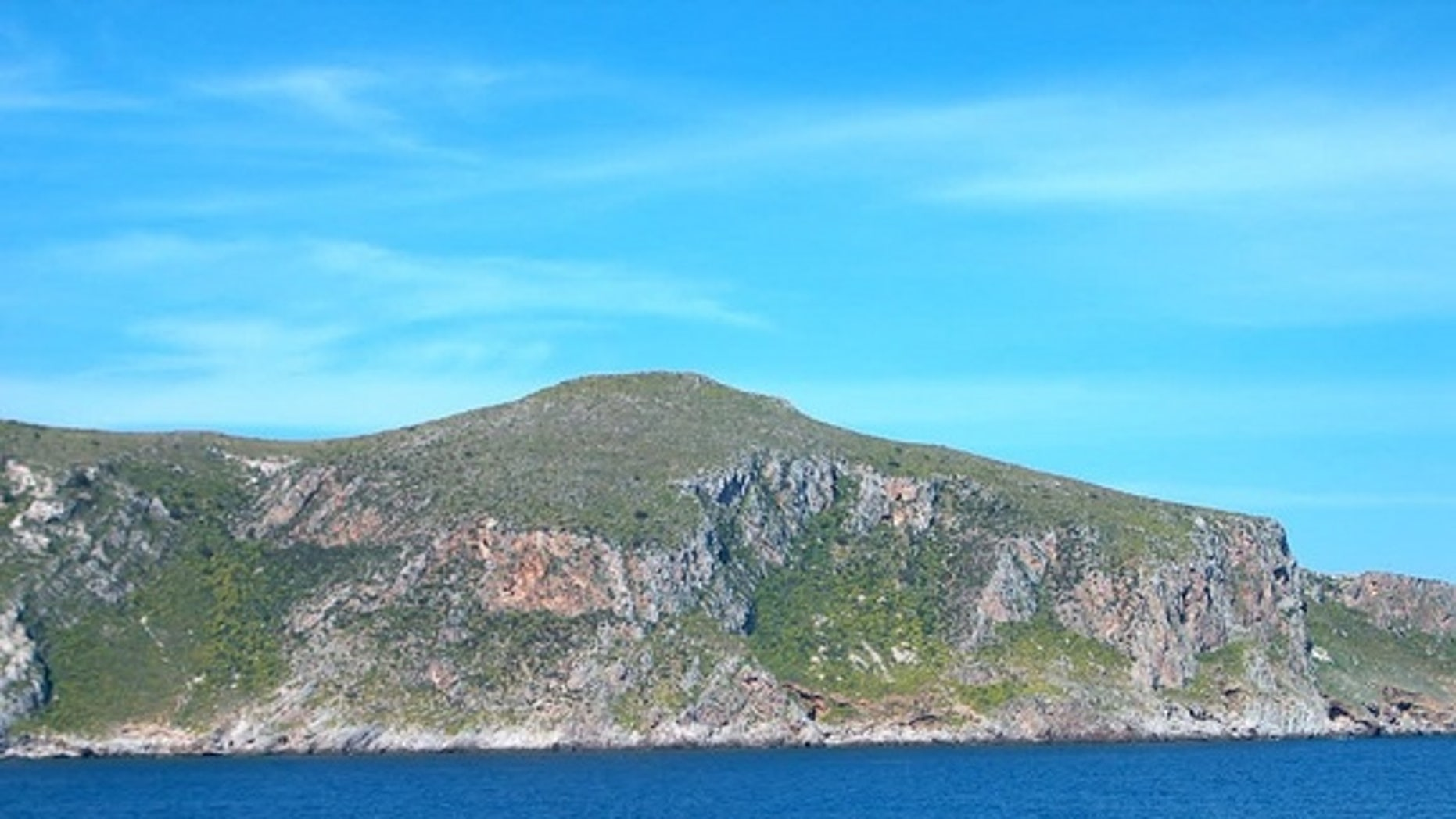 The island of Favignana near Sicily, where remains of early Mediterranean settlers were found in a cave.