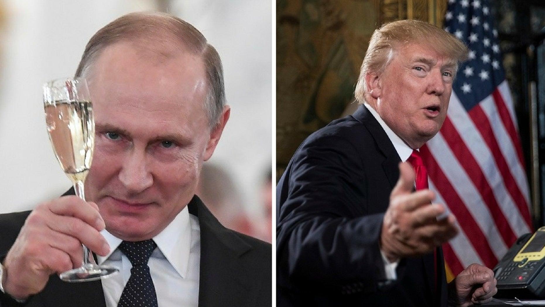 Russian President Vladimir Putin sent President Trump a holiday telegram.
