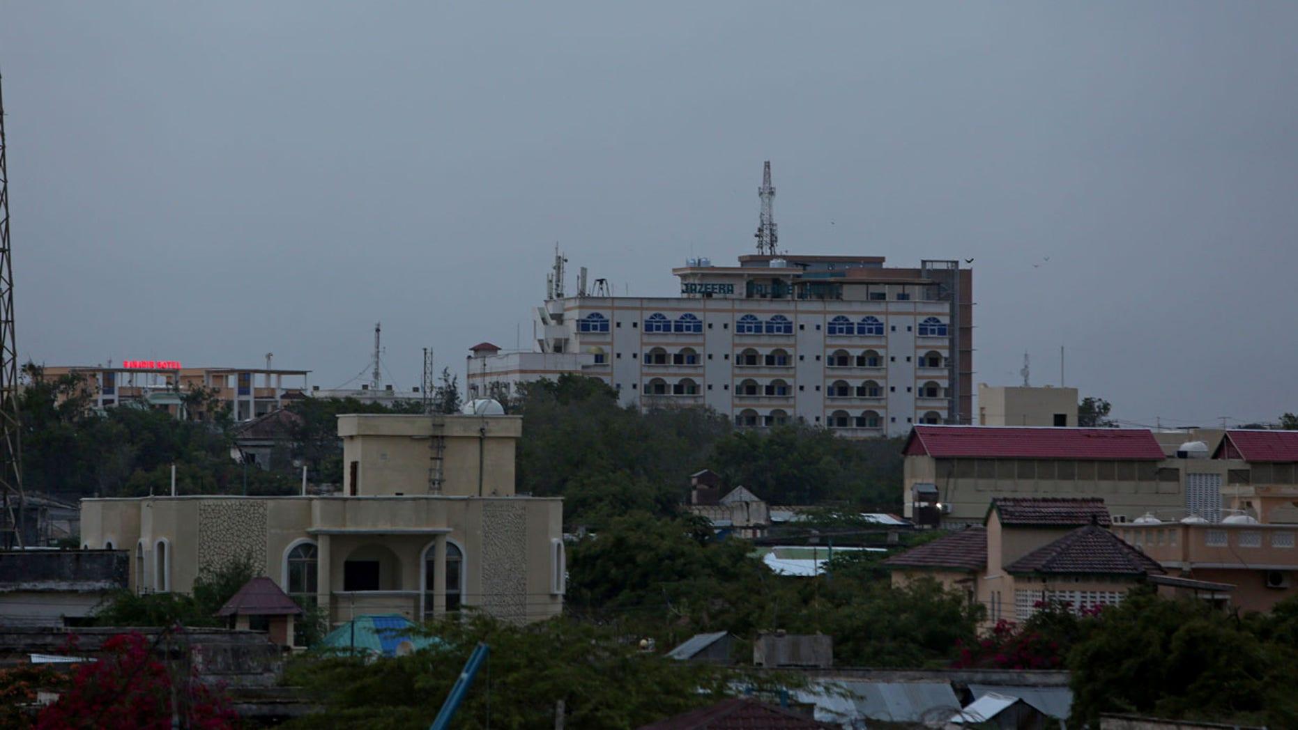 FILE 2017: A general view of the city skyline of Mogadishu, Somalia.