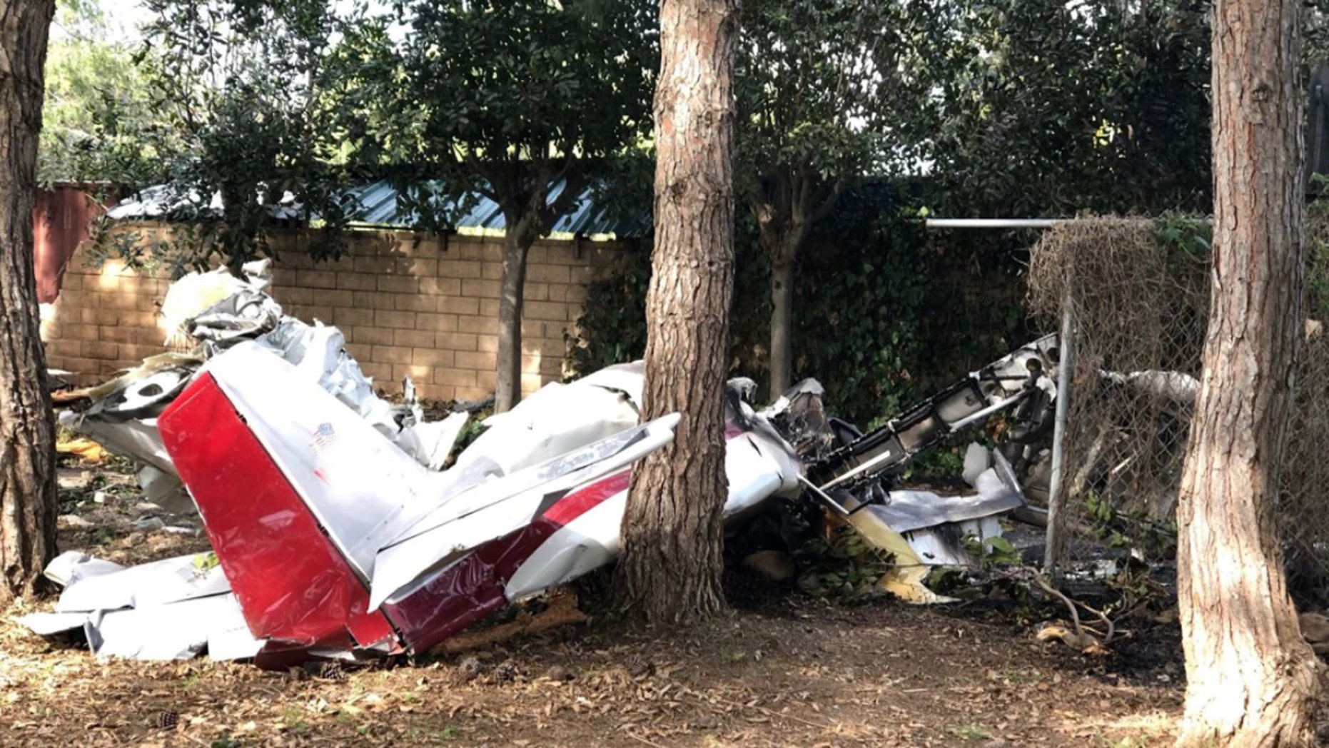 Ian Gregor, spokesman for the FAA, said that the plane caught fire after it crashed into a shed. He confirmed the plan, a Van's RV-6A aircraft, was home-built.