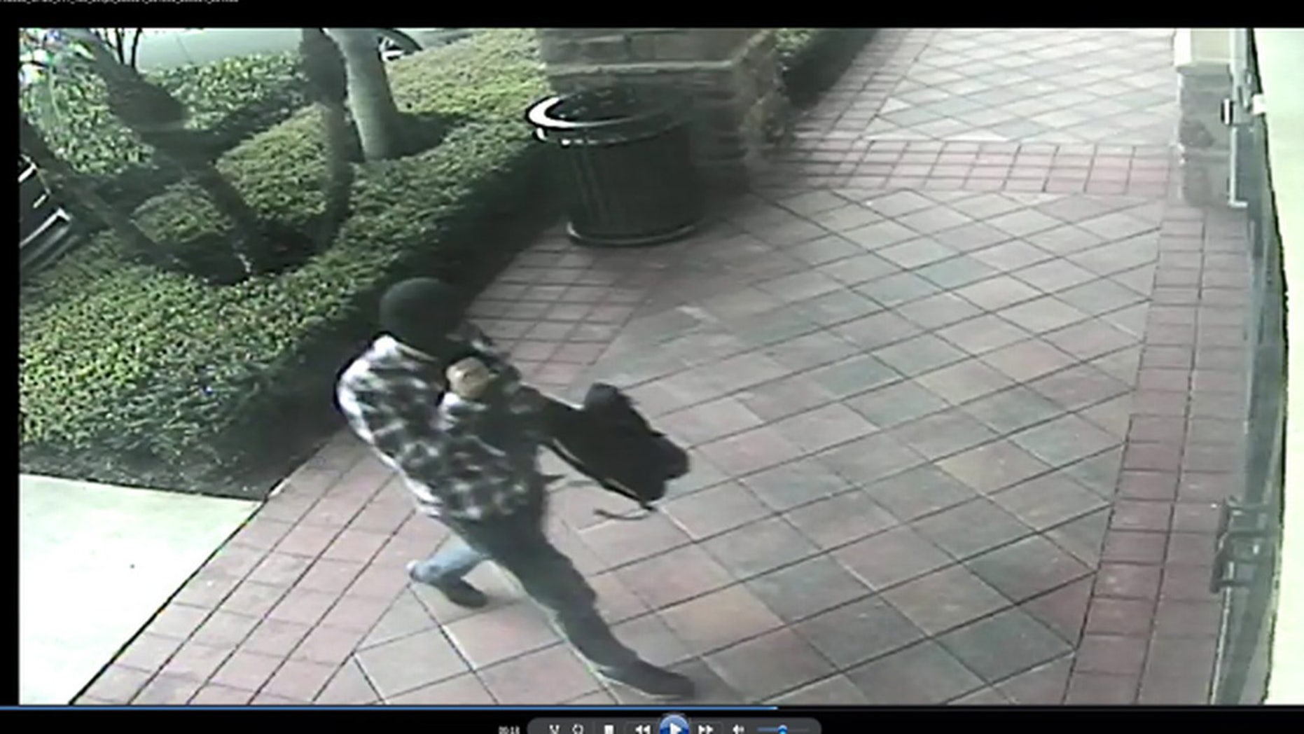 Florida man allegedly tried to rob a bank wearing a ski mask and a flannel shirt.
