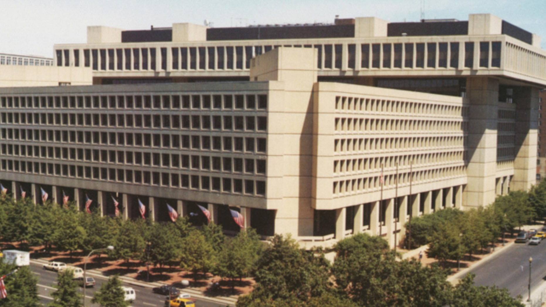 Feb. 10, 2009: The main headquarters of the FBI, the J. Edgar Hoover Building, in Washington, DC.
