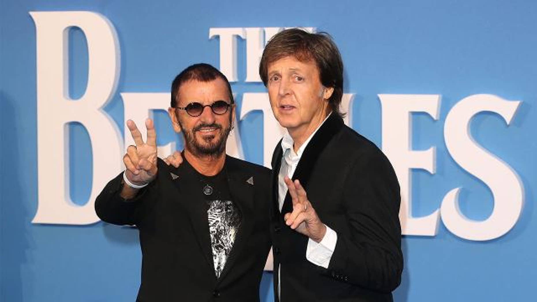 Ringo Starr and Paul McCartney reunited in London for a new Beatles documentary