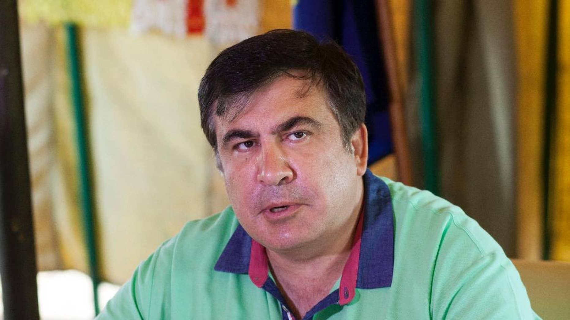 Mikhail Saakashvili in June.