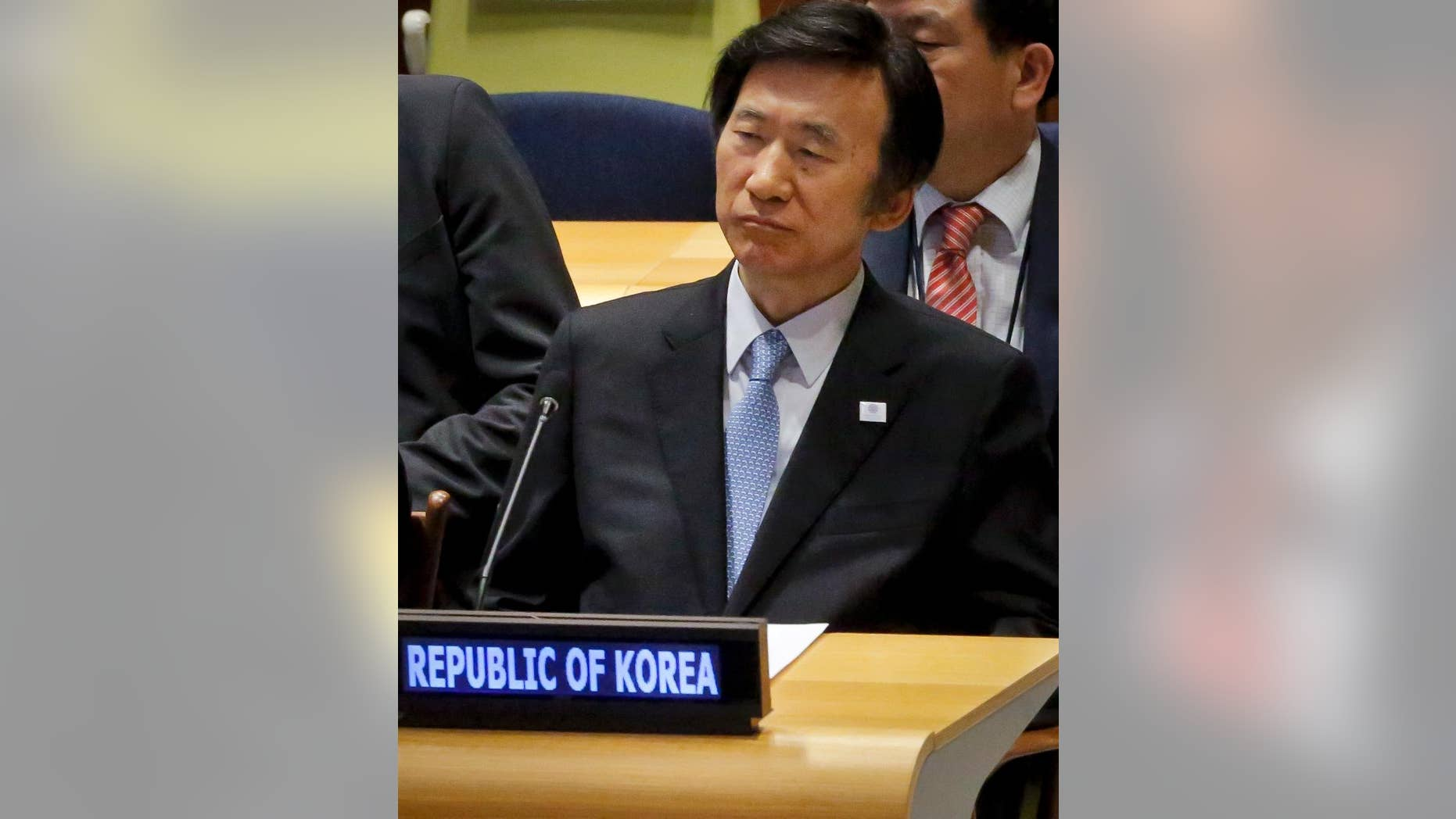South Korea's Foreign Minister Yun Byung-se listens during the Leader's Summit on Refugees at the 71st session of the General Assembly, Tuesday Sept. 20, 2016 at U.N. headquarters. (AP Photo/Bebeto Matthews)