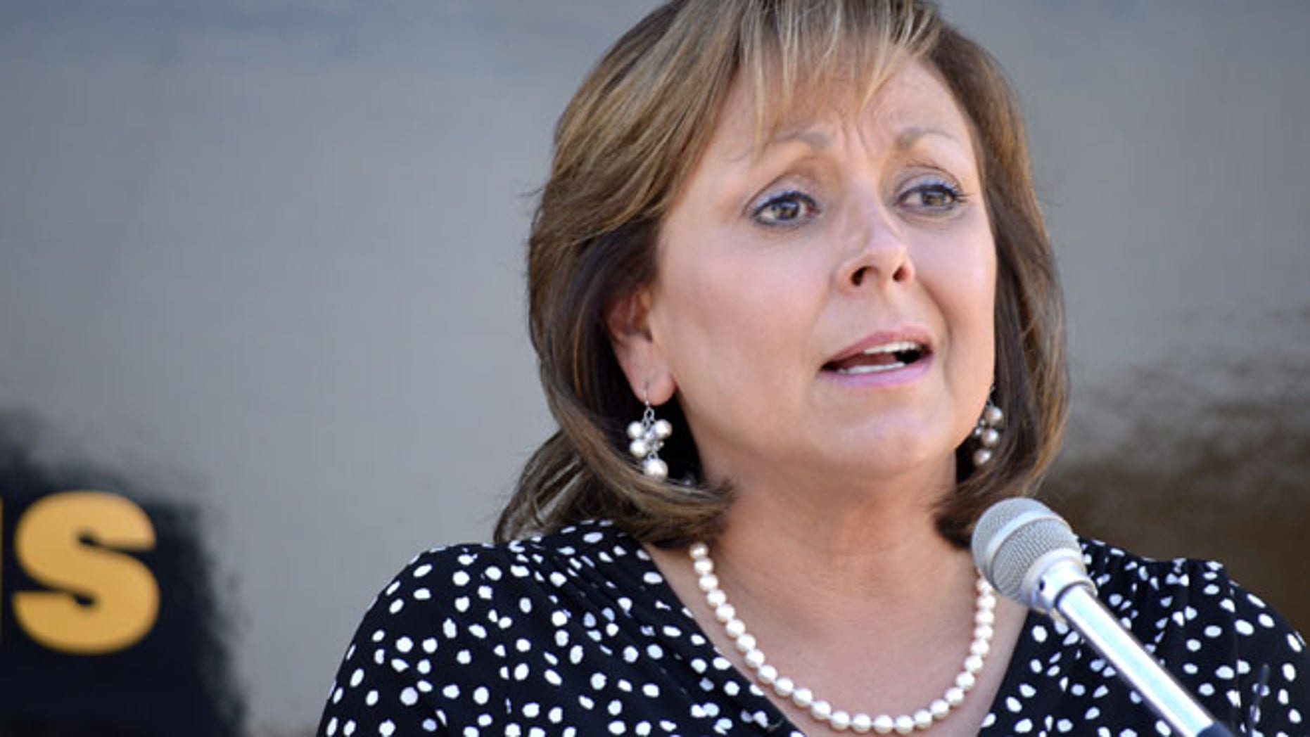 July 1, 2015: New Mexico Gov. Susana Martinez speaks about new laws expanding the state's Amber Alert and fighting child prostitution at a New Mexico Police State station in Albuquerque N.M.