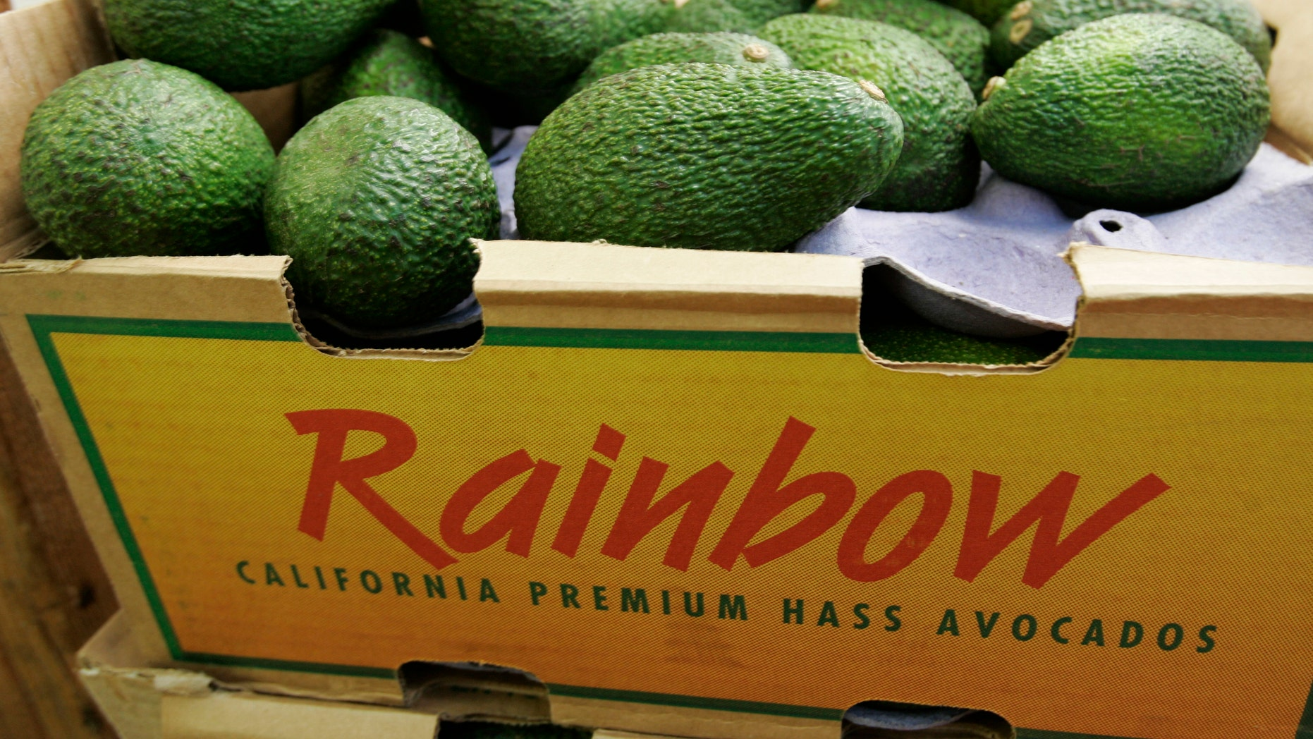 FILE - In this Jan. 17, 2007 photo, California grown avocados are seen on display at a market in Mountain View, Calif.