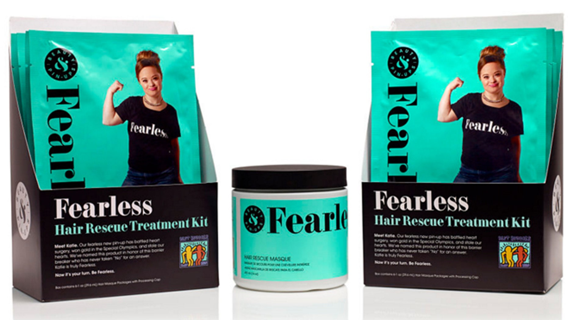 Katie Meade was chosen as the spokesmodel for Beauty & Pin-Ups Fearless line.