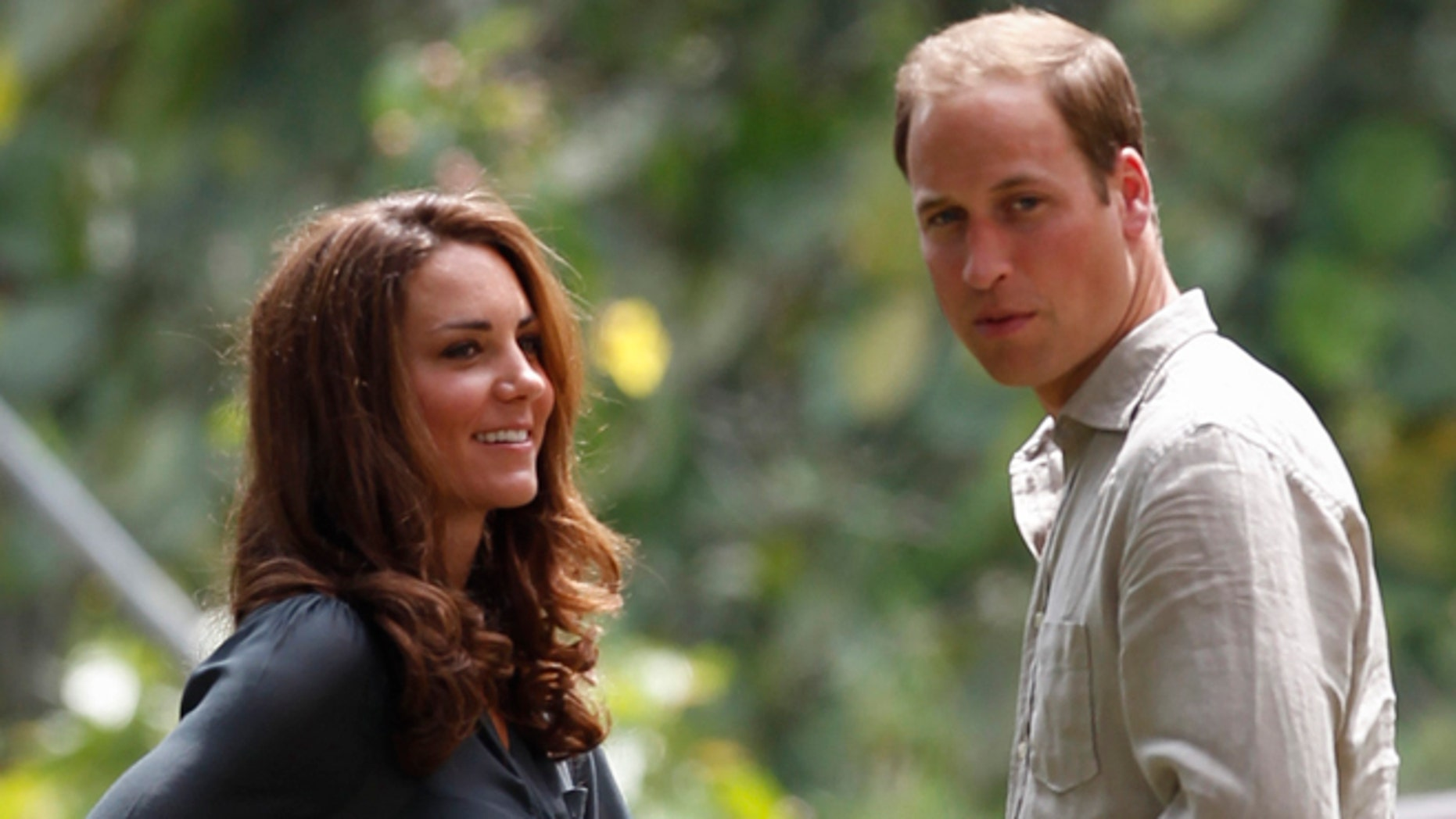 Sept. 15, 2012: Prince William and his wife Kate, the Duke and Duchess of Cambridge, in Danum Valley, Sabab, Malaysia.